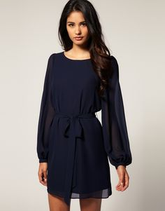 ASOS SHIFT DRESS with Blouson Bell Sleeve