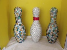 marbled covered bowling pins