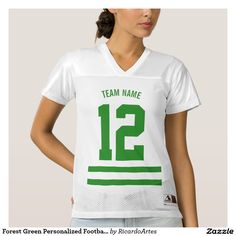 Forest Green Personalized Football Team
