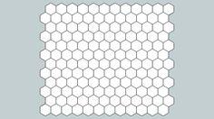 Sheet - 1 Inch Hexagon - 3D Warehouse