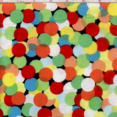 Cotton Quilt Fabric Spotlight Polka Dots Multi M Miller  - product image