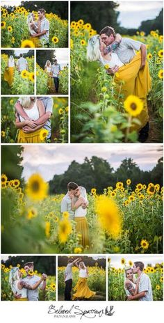 Sunflower Engagement Photography Session by East Cobb Photographer