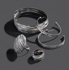 Heavy metal classics make every look a hit. Diamond cut sterling silver collection, by The Fifth Season by Roberto Coin