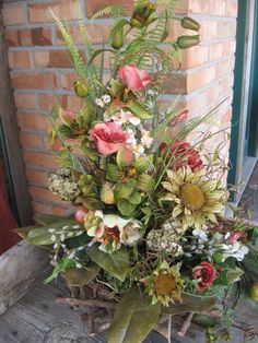 TWIG NEST CHIC floral arrangement in a by faucettandflame on Etsy, $52.99