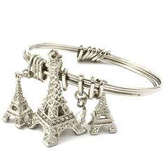 Silver Eiffel Paris Bangle Bracelet from Morties Boutique for $11.95 on Square Market