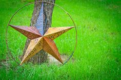 "Texas Lone Star License Plate Metal Art (32"")"
