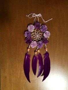 "3"" Floral Purple Rose Dream Catcher"