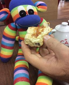 Yummy #sconeandjam #rock #fun #shopping #cafe #tesco #sunnyteddys