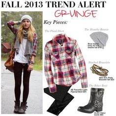 """""""Fall 2013 Trend Alert: Grunge"""" by trinavokes on Polyvore- this is what I wear almost everyday during the fall anyways"""