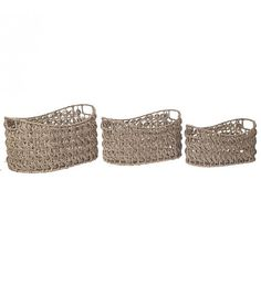 S_3 SEAGRASS BASKET IN NATURAL COLOR 47X33X25