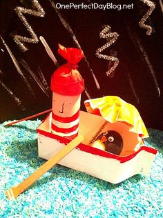 Oliver Jeffers Lost and Found book craft - creating a small world scene to bring books to life.