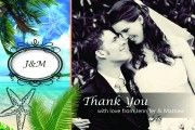 Our Thank You Postcards are custom designed to coordinate with our Passport Invitations! Passport Invitations, Beach Wedding Invitations, Wedding Stationery, Thank You Postcards, Thank You Cards, Great Thank You, Destination Wedding, Custom Design, Tropical