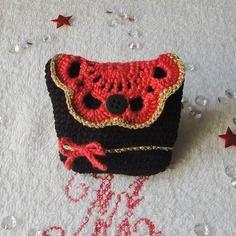 porte-cartes ou porte-monnaie au crochet