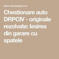 Chestionare auto DRPCIV - originale rezolvate: Iesirea din garare cu spatele