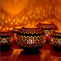 Made With Love Designs Ltd Moroccan Vintage Candle Tea Light Holder... (€35) ❤ liked on Polyvore featuring home, home decor and candles & candleholders