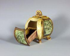 Ceramic Treasure Box Hidden Drawer Jewelry by AshenWrenCeramics