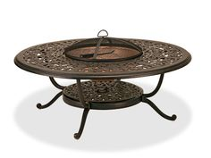 Milan 48 Cast Aluminum Fire Pit Coffee Table $699 Chair King
