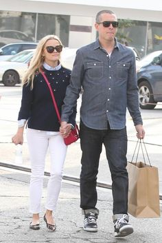 Reese Witherspoon wearing Saint Laurent Mini Duffle Bag in Pink, Krewe Du  Optic Julia Sunglasses