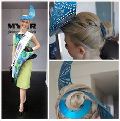 c0da61823d818 Races Hairstyles with Fascinators - Hair Ideas for Race Day Fascinator  Hairstyles