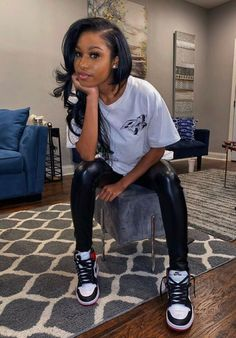 Swag Outfits For Girls, Cute Swag Outfits, Chill Outfits, Teen Fashion Outfits, Dope Outfits, Trendy Outfits, Jordan Outfits, Estilo Tomboy, Looks Hip Hop