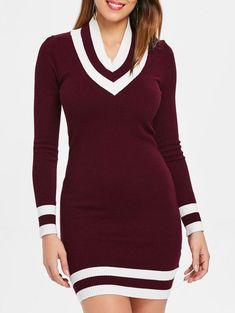 1e4315fdc1c53f Firebrick Long Sleeve Cricket Knit Dress