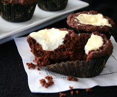 Low carb & GF Black & White Muffins (like a combination cheesecake and chocolate muffin)