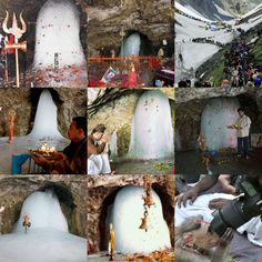 Shiva lingam is the symbol of belief, truth, energy and the extent of infinity. Shiva is the God of the Yogis, self controlled & celibate. Amarnath Temple, Temple India, Hindu Temple, Beautiful Moon, Beautiful Places, Lakshmi Images, Lord Shiva Painting, Om Namah Shivaya, Incredible India