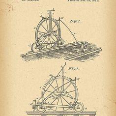 1881 Patent Railroad Velocipede Bicycle