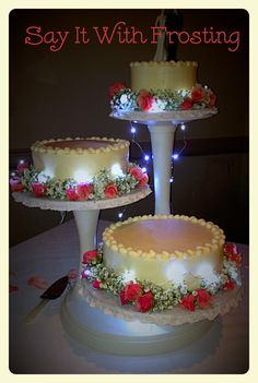 Pensacola Wedding Cakes Custom Buttercream Cake With Green Ombre Hearts Shamrocks Made For A Cantonment Reception