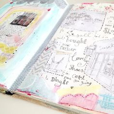 Hearthandmade UK Pastel Journalling with Aaron and Jenny Class 2, via Flickr.