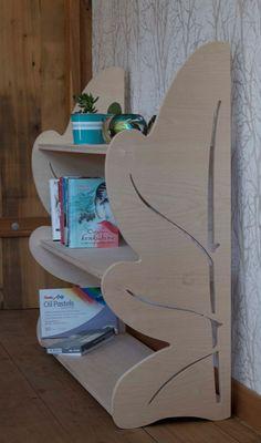 Oak Leaf bookcase Toy shelf Modern bookcase Toddler shelf | Etsy Contemporary Bookcase, Modern Bookcase, Modern Shelving, Toy Shelves, Wooden Shelves, Childrens Bookcase, Used Cabinets, Floor Shelf, Bookshelves Kids