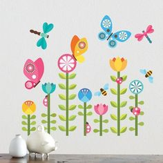 Petit Collage Butterflies Wall Decal