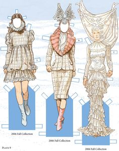 From: Alexander McQueen Fashions: Re-created in Paper Dolls. by Dover.