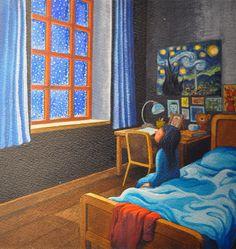 Risultati immagini per Jimmy Liao Taipei, Zentangle, Different Kinds Of Art, Through The Window, Good Morning Good Night, Vincent Van Gogh, Love Art, Illustrations Posters, Illustrators