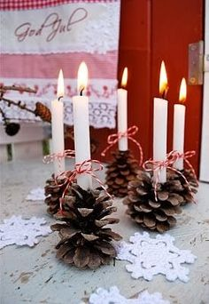 Pinecone decoration for Christmas