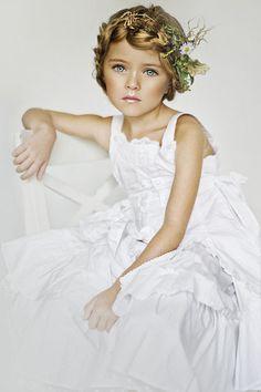 Kids - Alena Nikiforova..... great boho nature girl braid crown.. flower girl fairy hair