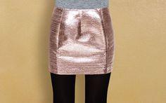 Una gonna anni '60 in lamé rosa dorato, per un look scintillante! #skirt