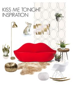 """""""KISS ME TONIGHT INSPIRATION:)"""" by marina-fouxman on Polyvore featuring interior, interiors, interior design, home, home decor, interior decorating, Graham & Brown, UGG, Gufram and Oliver Gal Artist Co."""