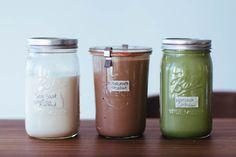 nut milk three ways: vanilla and sea salt almond milk, chocolate hazelnut milk, and matcha cashew milk // gratitude and greens  // #vegan #plantbased #recipe