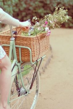 As a child I had a bike and I used to go for long rides with a backpack full of goodies. When I got tired I would stop and read a book for a while and have some lunch. I dreamed of a basket for the front. Mum got me one but it didn't fit, although I use it as a rubbish bin still. I sooo want to fulfill this dream now with a gorgeous bike & basket!