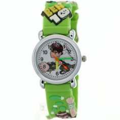 TimerMall Ben 10 Toy Cartoon White Dial Green Strap Quartz Kids Watches. TimerMall OEM Cartoon Watches funky cartoon style watches with its cute styled character. Clear standard numbers and bright colours make this watch appealing and attention grabbing.