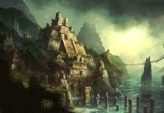 Ancient Times - Nastii DreamzZ Productions by Nastii DreamzZ Prod. on SoundCloud Fantasy City, Fantasy Castle, Fantasy Places, Fantasy World, Aztec City, Aztec Temple, Jungle Temple, Temple Ruins, Jungle Art