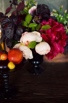 Darkly Romantic Floral Arrangement, pretty for fall! Floral Wedding, Wedding Flowers, Wedding Bouquets, Purple Bouquets, Bridesmaid Bouquets, Pink Bouquet, Brooch Bouquets, Flower Bouquets, Lace Flowers