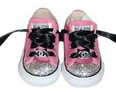 SWAROvSKI BaBY BLiNG LOGO INSpIRED CoNVERSE BOUTIQUE CHUcK TAYLoR     must have these