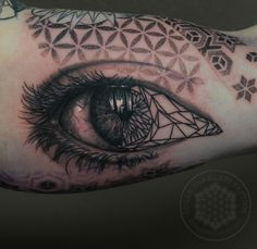 Post with 0 votes and 18140 views. Geo/realism eye by me, Logan Bramlett, Wanderlust Tattoo Society Akron Ohio R Tattoo, Tattoo Fonts, Sleeve Tattoos, Cool Tattoos, Eye Tattoos, Tattoo Sleeves, Amazing Tattoos, Tattoo Drawings, Daytime Eye Makeup