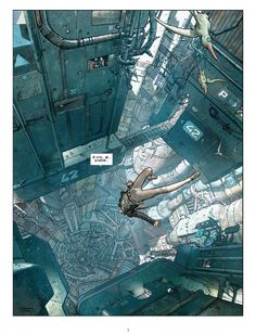 Final Incal by José Omar Ladrönn http://www.entrecomics.com/?p=15619 based off The Incal originally drawn by Moebius ( http://theairtightgarage.tumblr.com/ ) and written by Alejandro Jodorowsky ( http://en.wikipedia.org/wiki/Alejandro_Jodorowsky ). Found on reddit http://www.reddit.com/r/Cyberpunk/comments/vqv52/the_fastest_way_to_travel/
