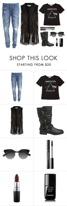 """""""Sem título #171"""" by jessblock on Polyvore featuring moda, Object Collectors Item, Hollister Co., Glamorous, Report, Ace, MAC Cosmetics, Chanel e rocker"""
