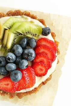AMAZING Lemon Cookie Fruit Tarts! NO BAKE, 7 ingredients and SUPER delicious! #vegan #glutenfree #dessert