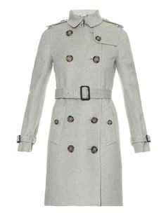 Burberry London Kensington Baby cashmere trench coat