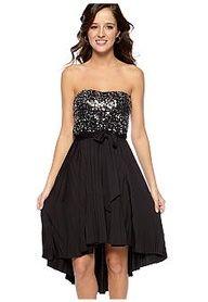 Almost Famous Sequin Hi Lo Dress. Semi formal dress?!?!